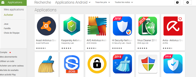 antivirus Android Google Play